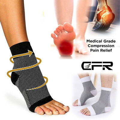 Foot Sleeve Compression Socks Ankle Plantar Fasciitis Achy Swelling Relief Brace