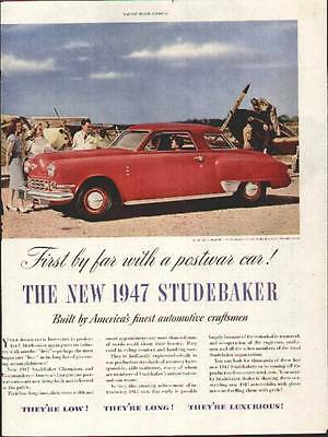 1947 Red Studebaker Commander Regal DeLuxe 2-Door Coupe ad