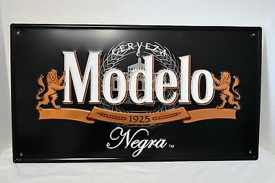 "Cerveza Modelo Negra 23"" X 13"" Embossed Metal Tin Sign New"