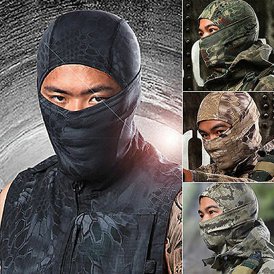 Tactical Outdoor Camouflage Full Face Mask Balaclava Hood Hat Airsoft Hunting