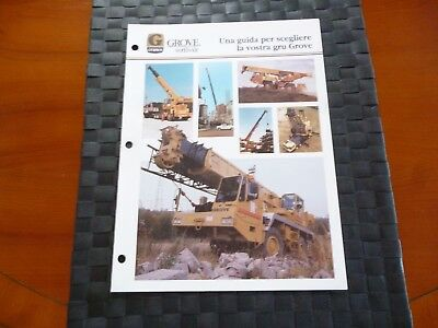 Grove Cranes Grove Worldwide Guide Italian Language Leaflet/brochure *pictures*