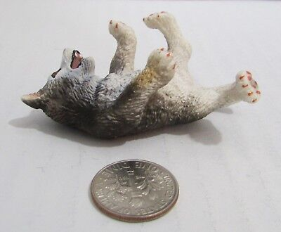Schleich Husky Puppy Playing laying on back Retired 16374