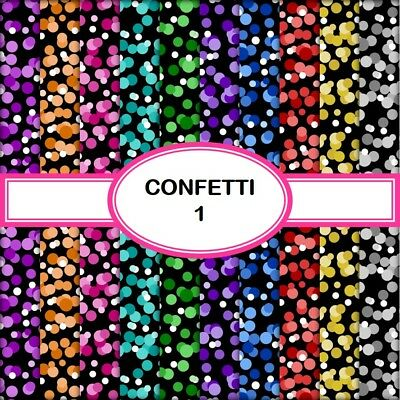 CONFETTI 1 SCRAPBOOK PAPER - 10 x A4 pages