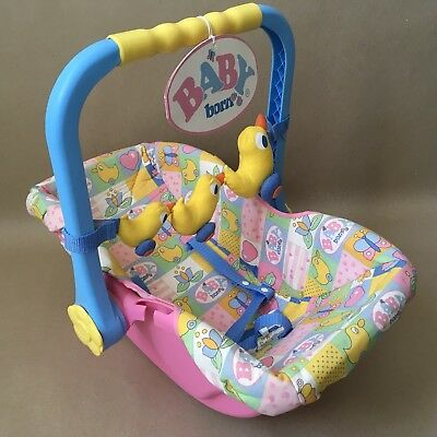 ZAPF CREATIONS Baby Born Doll - Car Seat Carry Cot Lot# 417 Tagged