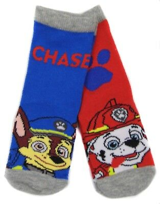 Boys Paw Patrol Socks Pack of Two Shoe Size 3-5.5 and 6-8.5 Shoe Size
