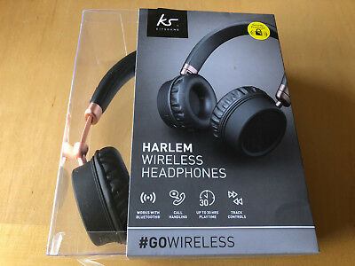 86f48799283730 New Kitsound Harlem Wireless Bluetooth Over Ear Headphones With Microphone