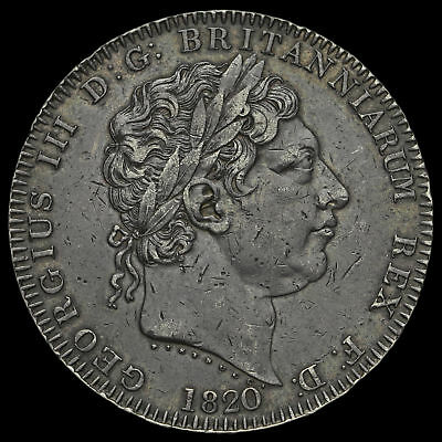1820 George III Milled Silver LX Crown