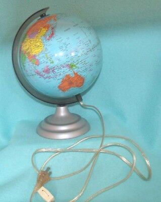 Vintage Lighted World Globe