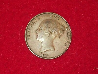 1855 Great Britain penny