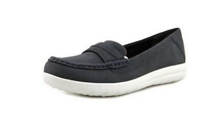 be89f7289b7 CLARKS CLOUDSTEPPERS WOMENS Jocolin Maye Navy Perf Slip On Shoes 12M ...