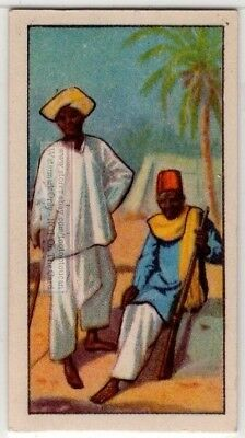 Native African Sudanese Villager and Hunter 80+  Y/O Ad Trade Card