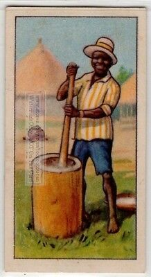 Native African Pounding Rice 80+  Y/O Ad Trade Card