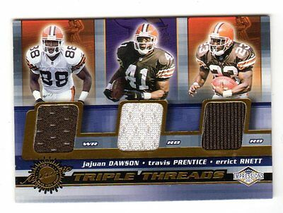 Cleveland Browns Nfl 2001 Pacific Impressions Triple Threads  Card Sale