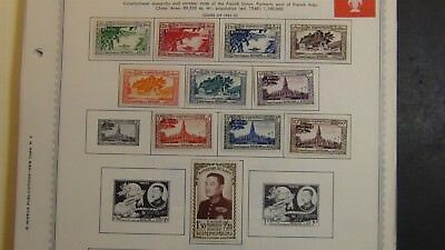 Laos Stamp collection on Minkus pages '91 or so