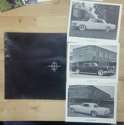 1956 Continental Mark III Brochure with three 6×7.5 press type  photo