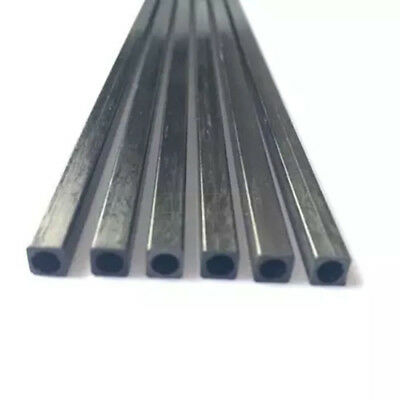 2*2-10*10mm L:10-50cm Square Carbon Fiber Square Tube Pipe Round Hole Pole UK