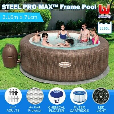 Bestway Spa Pool Inflatable Outdoor Portable Lay-Z Massage Bath Hot Tub