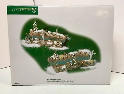 Dept 56 Village 53006 Mountain Creek Straight Section  River Set of 2