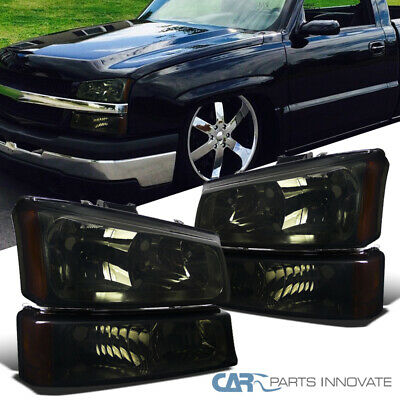 03 07 Chevy Silverado Avalanche Pickup Smoke Headlights Parking Per Fog Lamps