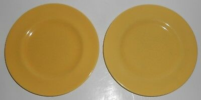 Metlox Pottery Poppy Trail Series 200 Gloss Yellow Pair Salad Plates