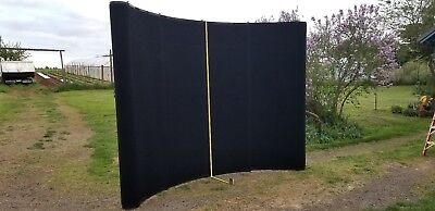 "Black Skyline 10' x 92"" Trade Show Display Exhibit Popup Booth +  Cases"