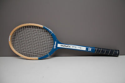 "Vintage Wilson Stan Smith Topspin Strata-Bow Wooden Tennis Racquet 4 5/8"" L5"