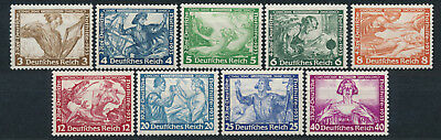 Dt. Reich Nothilfe Wagner 1933** Michel 499-507 Attest (S15497)