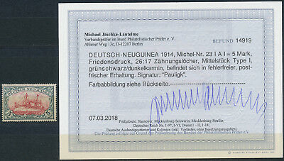 DNG 5 Mark Kaiseryacht 1914** gute Type Michel 23 I A I Attest (S15502)