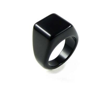 Men's Black Onyx Rings jewelry ring tail ring single men and women couple rings
