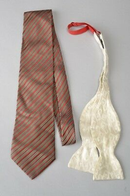 Jim Thompson Silk Tie and Turnbull & Asser Silk Bow Tie. Ref FVC