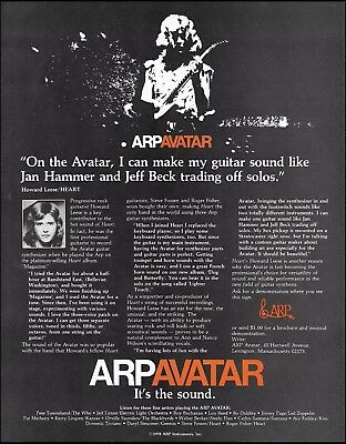 Howard Leese (Heart band) 1978 ARP Avatar guitar synthesizer 8 x 11 ad print