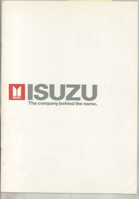 1982 Isuzu Car Truck Corporate History Assembly Line Stockholder Brochure wz2420