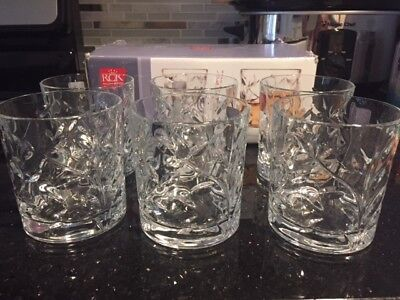 (set of 6) RCR Lead Free Crystal Tumblers / Highball Glasses (NEW IN BOX)