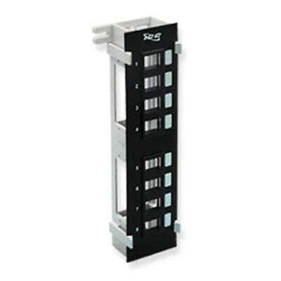 Icc Ic107Bp8Vb Patch Panel, Blank,vertical,8-Port Flush