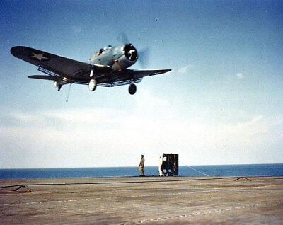 COLOR WWII Photo, US Navy SBD Dive Bomber USS Ranger US Navy WW2 World War Two
