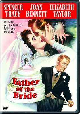FATHER OF THE BRIDE New DVD 1950 Cut UPC Code Spencer Tracy Elizabeth Taylor