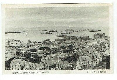 Old Postcard Kirkwall From Cathedral Tower Orkney Scotland Kent's Series C.1910