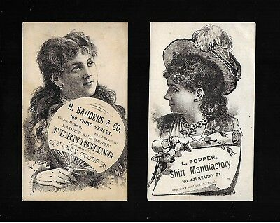 Popular Victorian Actresses-2 Victorian Trade Cards-SALE