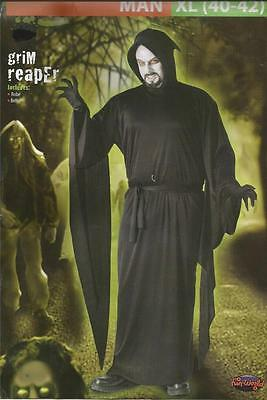 NEW! GRIM REAPER Halloween Cosplay Costume Mens XL 40 - 42 - FREE SHIPPING