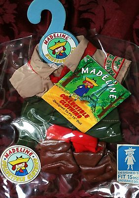 """New Rare Madeline Plush Doll Outfit 15"""" Dressable Girl Paris Scout Girlscout Fre"""