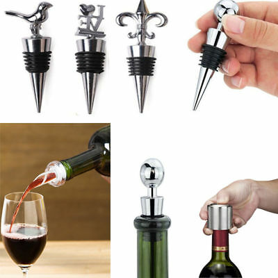Stainless Steel Red Wine Vacuum Sealed Wine Bottle Stopper Plug Cap Favors Gifts