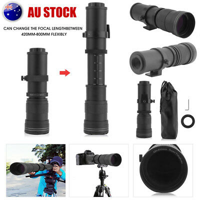 420-800mm f/8.3 - 16 Super-Telephoto Zoom Camera Lens For Canon Sony SLR AU SHIP