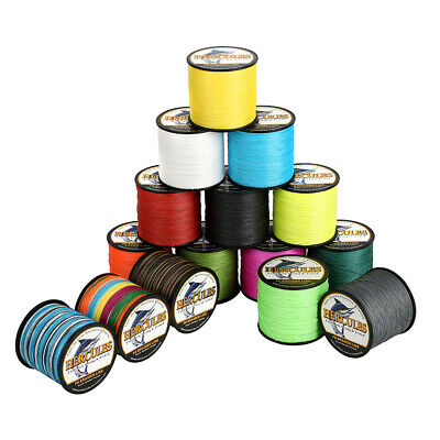 Hercules 1000M 1094 Yards Weave 6lb-100lb Test 4 Strands PE Braided Fishing Line