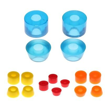 Skateboard PU Conical Cylinder Truck Bushing Washers Outdoors 3.25in Blue