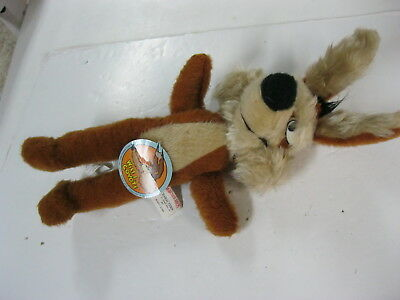"""Warner Brothers Nos Wile E. Coyote 19"""" Plush With Tags / Roadrunner-Coyote-Mopar"""