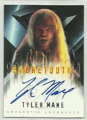 "x-men Chase Card with Genuine Autograph,Signed by Tyler Mane ""Sabretooth"""
