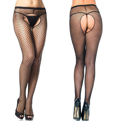 Sexy Women's Fitness Open Crotch Crotchless Sheer Pantyhose Stockings Tights New
