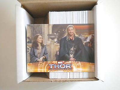 2013 UPPER DECK THOR THE DARK monde 100 CARDS KIT COMPLET NATALIE PORTMAN