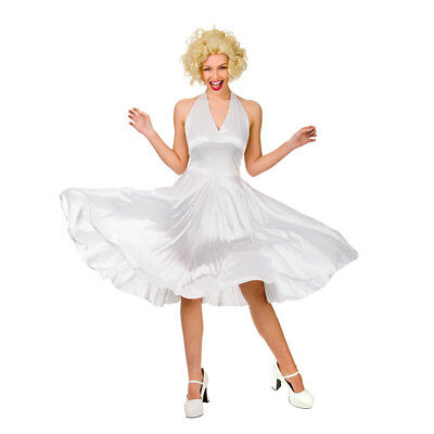 Hollywood Starlet Costume Marilyn Monroe Ladies Fancy Dress Outfit Size 6-28