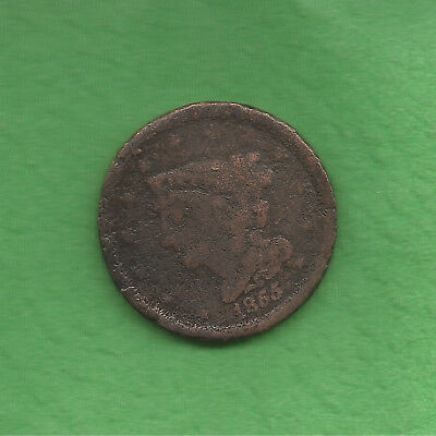 1855 Braided Hair, Half Cent, Only 56,500 Were Minted, 163 Years Old!
